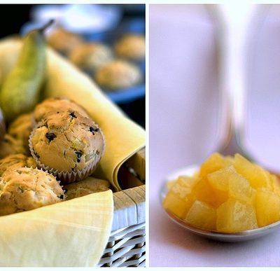 muffine pere caramellate