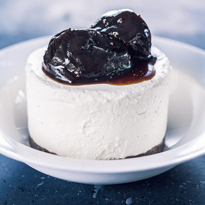 cheesecake con fichi caramellati