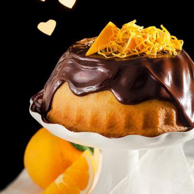 ciambella all'arancio e cioccolato