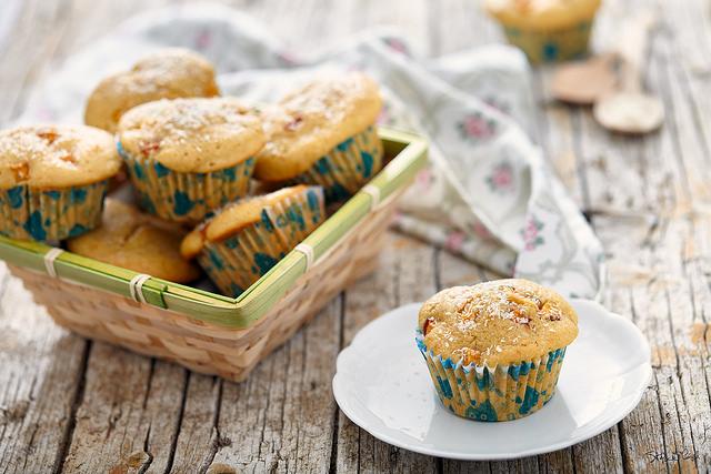 Muffin pesca e cocco