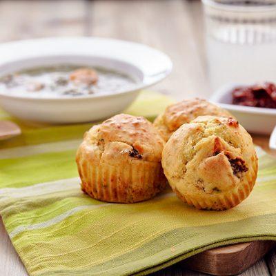 muffin pomodori secchi parmigiano